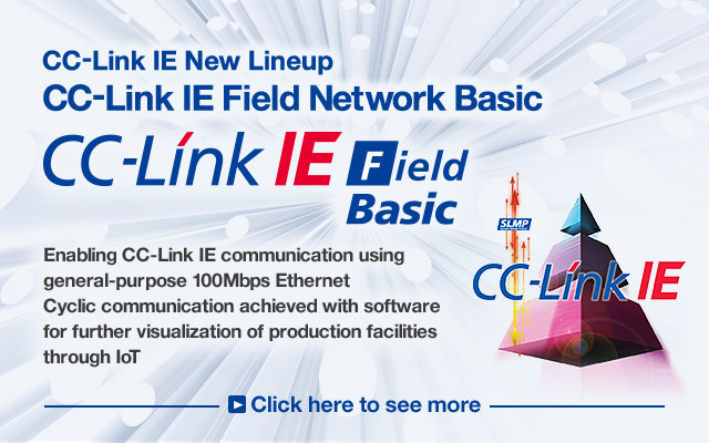 CC-Link IE communication using 100Mbps general-purpose Ethernet